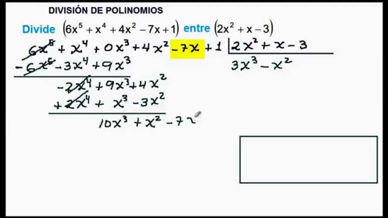 Division de polinomios ejemplos resueltos yahoo dating