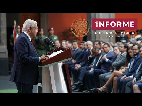 Primer Informe de Gobierno. Presidente AMLO