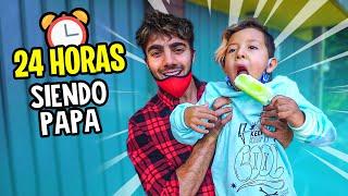 24 HORAS SIENDO PAPA DE MI VECINO! (de 5 años)
