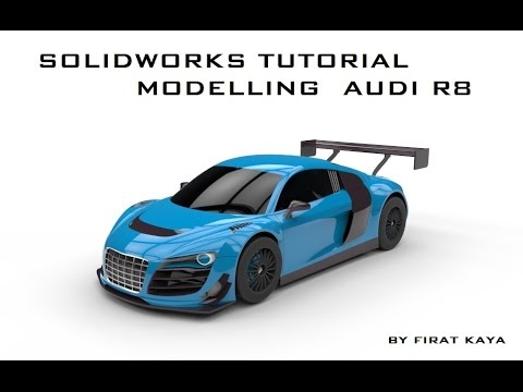 Solidworks Tutorial Modelling Audi R8 Blueprint Placement   YouTube