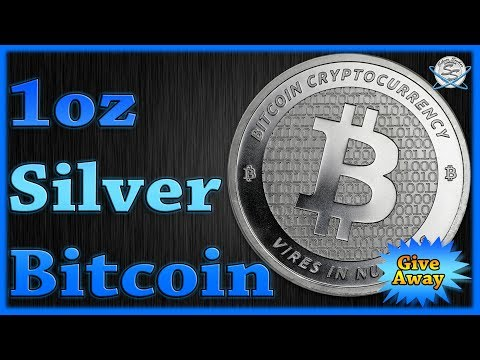 1oz Silver Bitcoin Round Giveaway!