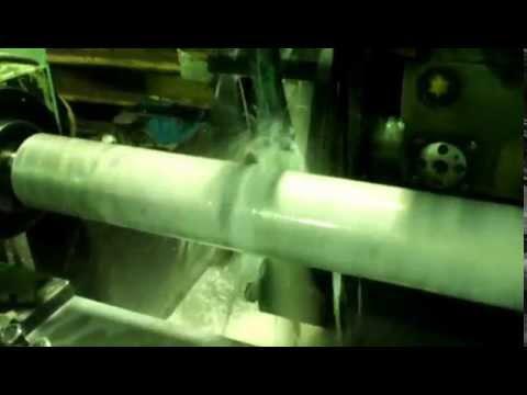 Круглая шлифовка алюминиевой трубы.