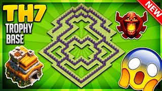 """UNSTOPPABLE"" TOWN HALL 7 (TH7) TROPHY BASE DESIGN/DEFENSIVE 2018 - Clash Of Clans"