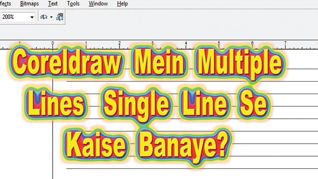 How To Multiple Lines From A Single Line In Coreldraw in