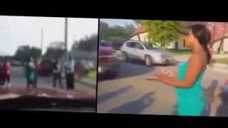 Girl runs over 5 of her rivals with her car