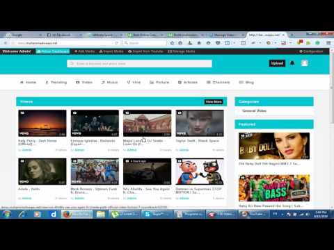 Php video cms
