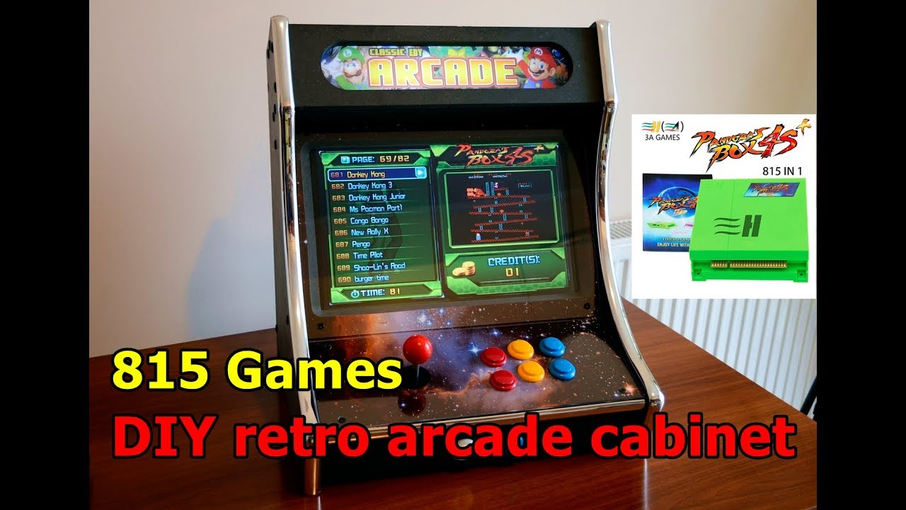 Arcade Cabinet Build With Pandora Box Home Made Youtube