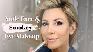 Nude Face and Smokey Eye Makeup Tutorial   Dominique Sachse