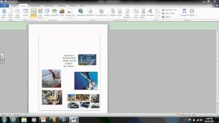 Inserting and moving pictures in a word document