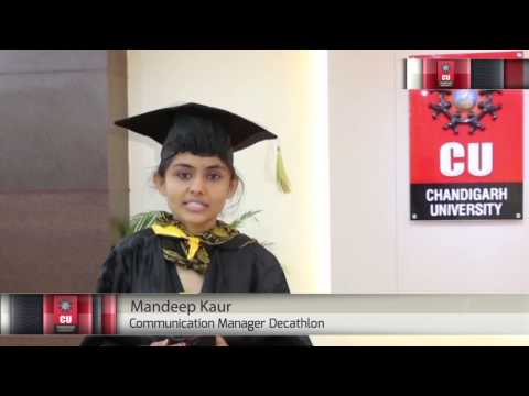 Mandeep Kaur, MBA Student, Sharing her Best Moments of Chandigarh University