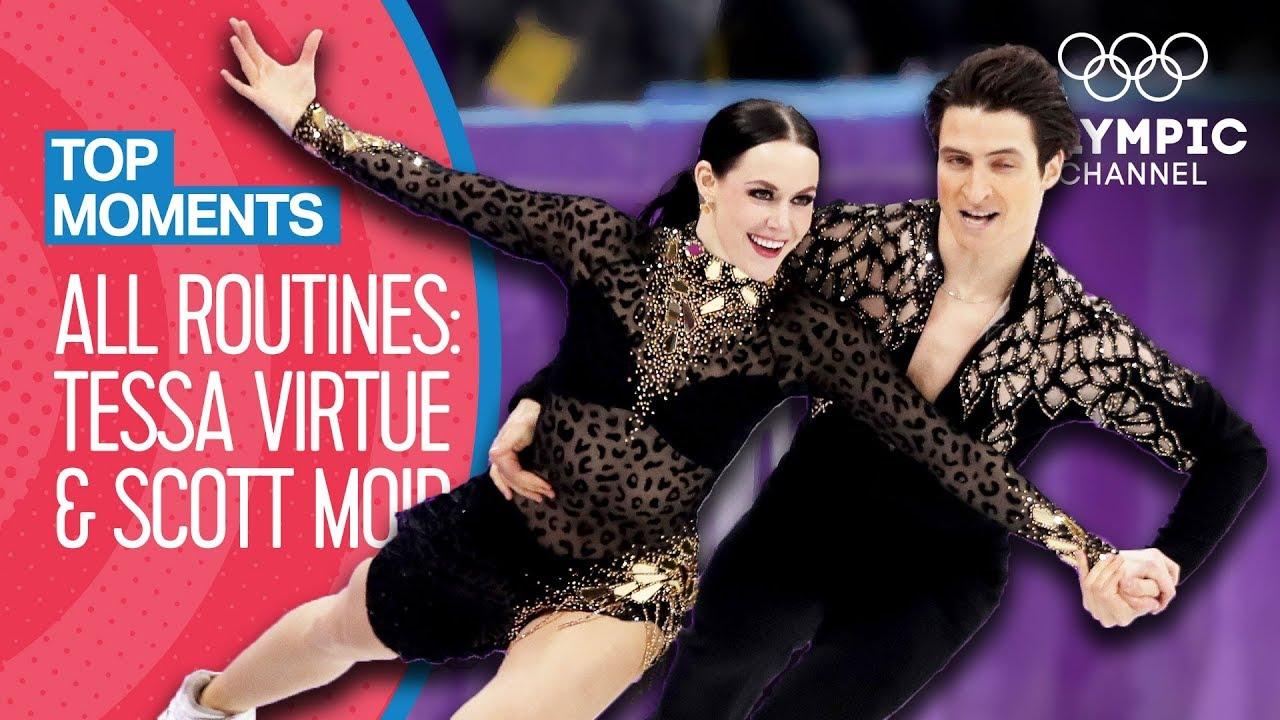 Tessa Virtue & Scott Moir - Every Olympic Performance! | Top Moments