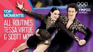 Tessa Virtue & Scott Moir - Every Olympic Performance! | Top Moments