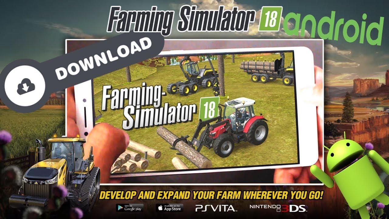 Como Baixar E Instalar Farming Simulator 18 GRÁTIS || FS 18 || Android ||  COM DINHEIRO INFINITO