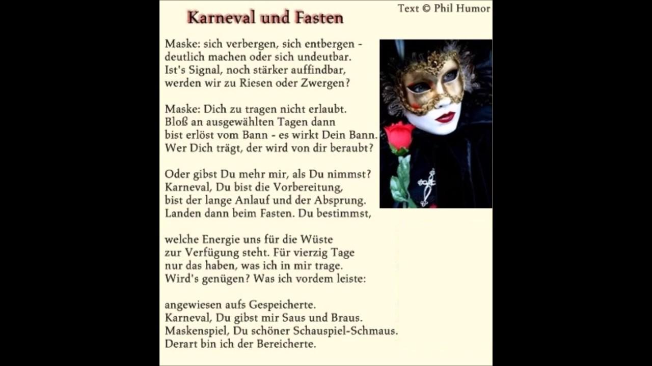 Karneval Und Fasten Gedicht Von Phil Humor