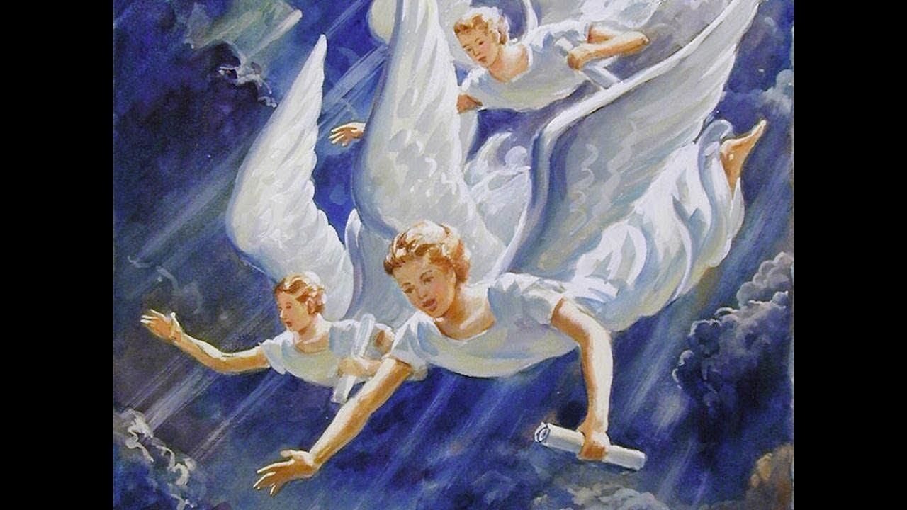 лежу я на сионских горах три ангела