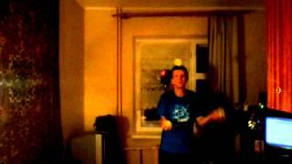 Жонглирование фонтан 4 мяча с переходом на три