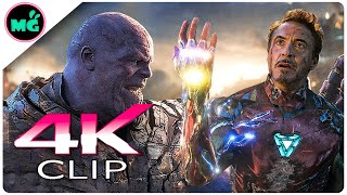 Iron Man Vs Thanos | Final Battle Scene - AVENGERS 4 ENDGAME (2019) New Movie CLIP 4K