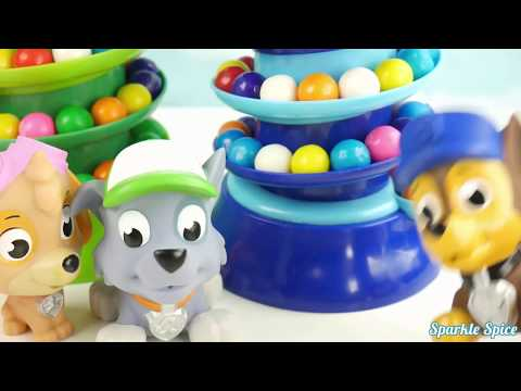 Learn Colors PJ Masks Doll Gumball Machine Bath Time Chocolate Candy and Colors Clay Slime Surprise