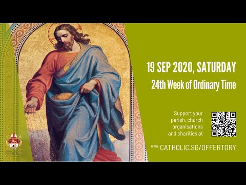 Catholic Weekday Mass Today Online - Saturday, 24th Week of Ordinary Time 2020