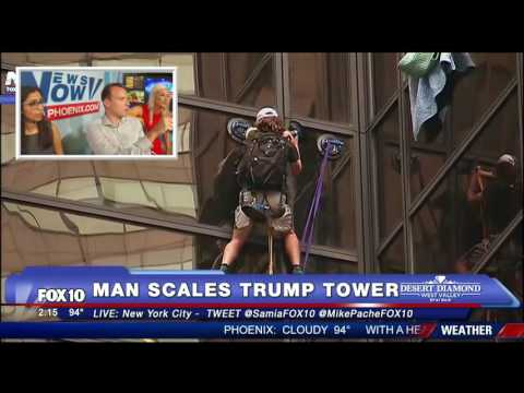 FULL VIDEO: Man Scales Trump Tower in New York City - MUST WATCH FNN