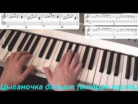 Цыганочка на фортепиано. Легкая версия. Разбор.