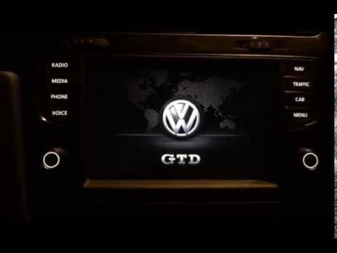 vw golf 7 5g discover pro startup logo gtd youtube. Black Bedroom Furniture Sets. Home Design Ideas