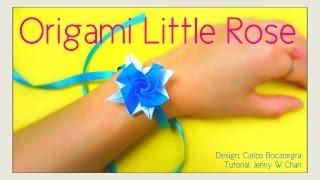 Origami Rose [Bracelet] - Little Roses Carlos Bocanegra - Origami Flower Tutorial