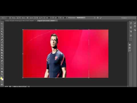 Как вставить одну картинку в другую в Adobe Photoshop CS6?