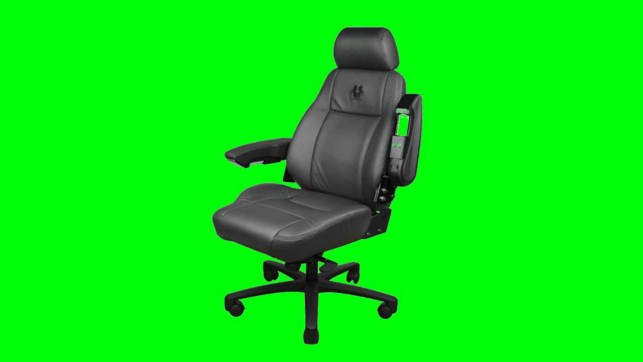 Computer Desc Chair In Green Screen Free Stock Footage