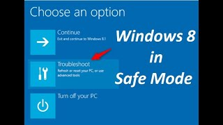 How to reboot Windows 8 in safe mode