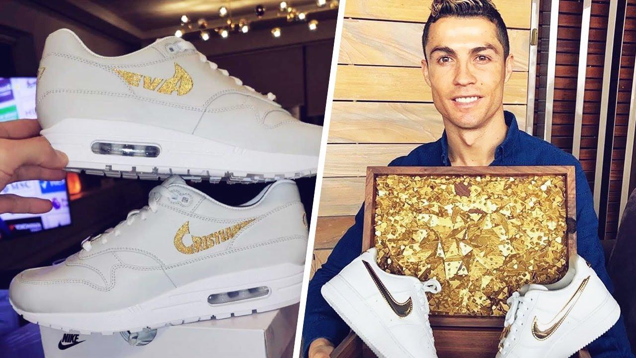 Les incroyables chaussures que Cristiano Ronaldo avait reçues pour son anniversaire   Oh My Goal