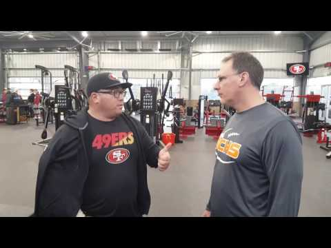 Coach Dino with Mark Uyeyama of the San Francisco 49ers