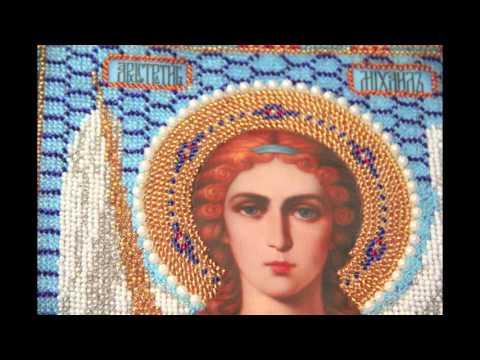 Вышитые иконы бисером от Абрис Арт (процесс и готовые работы)
