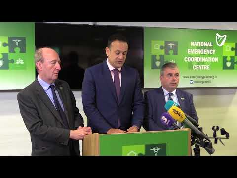 VIDEO: People currently in work should 'stay where they are' - Taoiseach on Ophelia