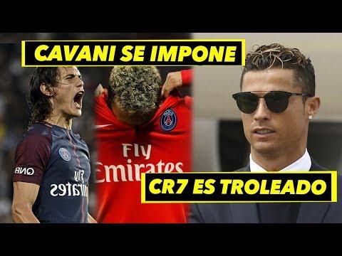 PSG se queda con Cavani, Neymar está solo   Un aficionado trolea a Cristiano
