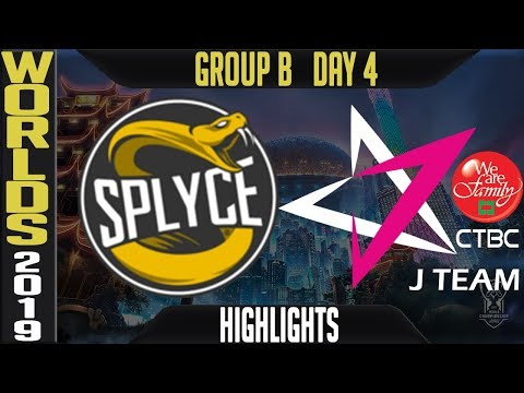 SPY vs JT Highlights Game 1 | Worlds 2019 Group B Day 4 | Splyce vs CTBC J Team