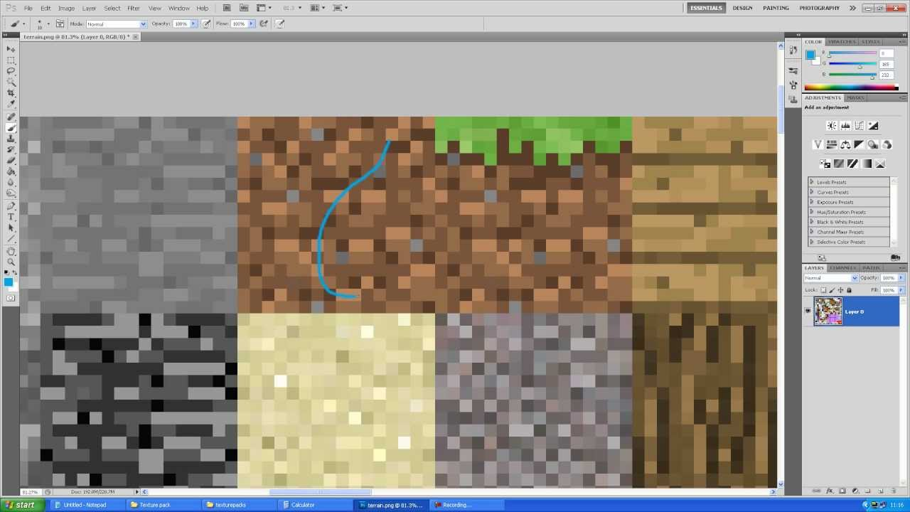 How to make your own Minecraft Texture pack - High resolution (HD
