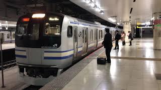 E217系クラY-17編成+クラY-130編成東京発車