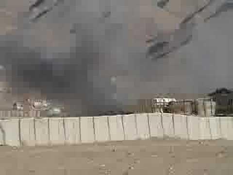 Mortar attack on US base
