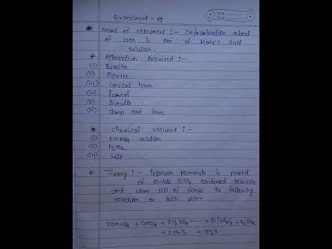 Chemistry Practical Copy - B.Sc Part 1