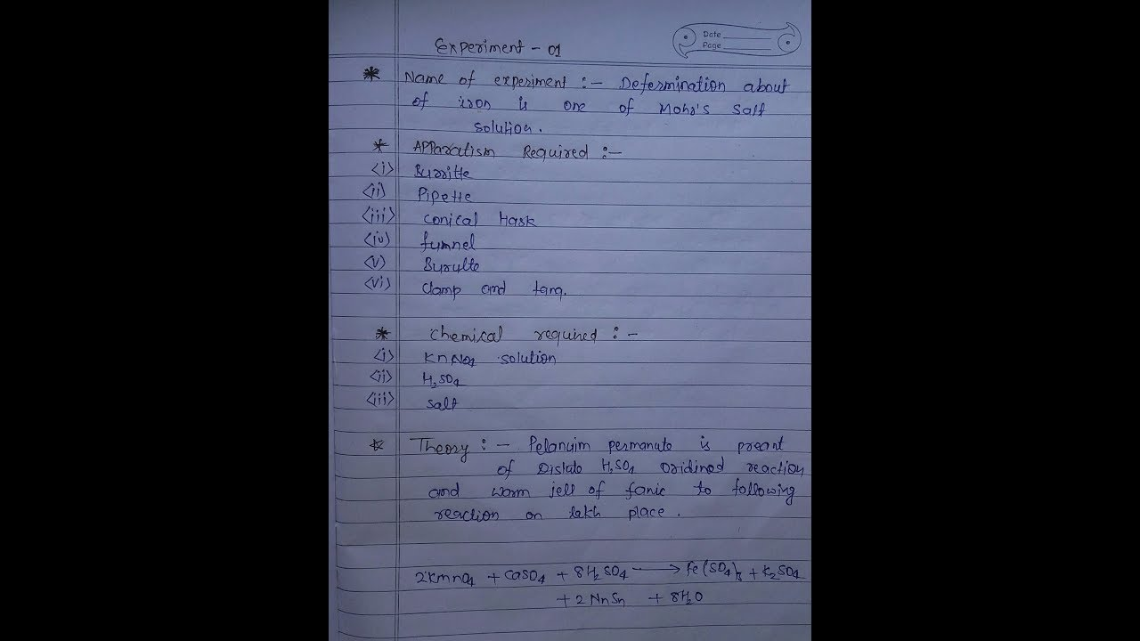 Chemistry Practical Copy - B Sc Part 1