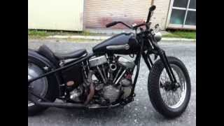 HARLEY DAVIDSON 1948 PANHEAD COLD KICK START
