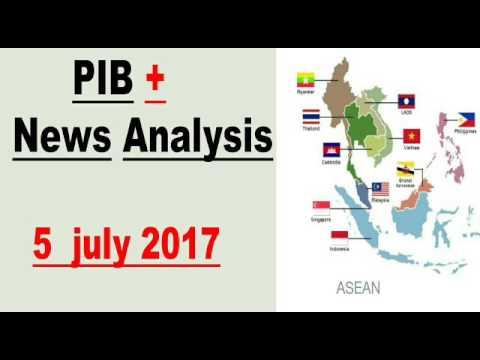 5 July 2017 PIB + News Analysis »E-NAM Program , Soil Health Cards, LAW Commission ,ASEAN..