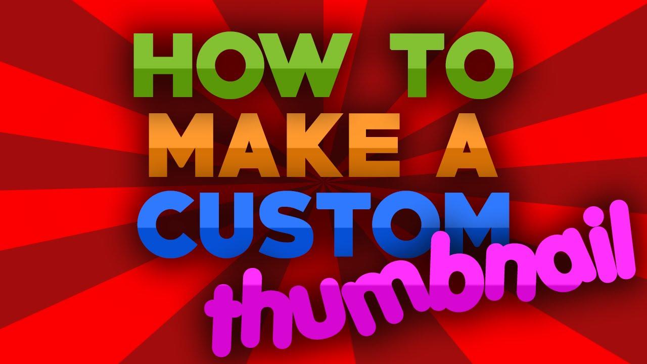 how to use custom youtube thumbnails
