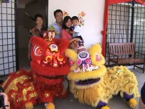 Chinese Lion Dance For House Blessings and Good Fortune