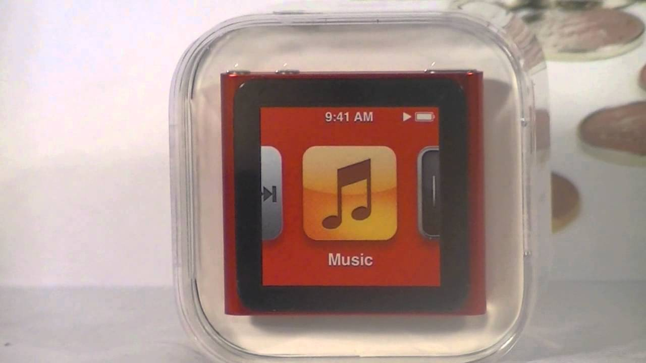 Apple Ipod Nano 6th Generation Red Product Red Mp3 Player Ebay Youtube