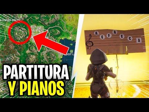 ENCUENTRA LA PARTITURA EN PARQUE PLACENTERO / TOCA LA PARTITURA EN EL PIANO / CIUDAD COMERCIO