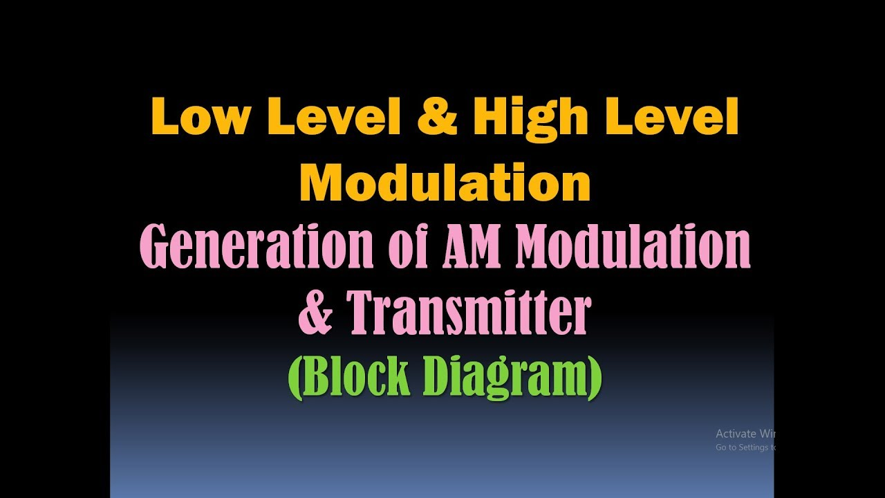 low level and high level modulation (generation of am modulation high level design diagram block diagram of a high level modulation #10