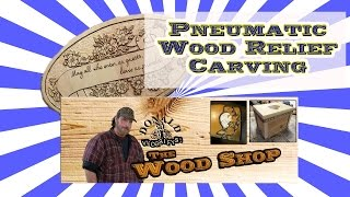 Wood Carving With A Pneumatic Engraver Part 3