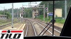 Cab Ride Chiasso - Milano Centrale dalla cabina dell'ETR524 TiLo   Parte 1 da Chiasso a Camnago